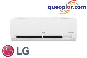 Minisplit Inverter WiFi LG DUALCOOL , 12000 BTU/h Enfriamiento, 17.5 SEER, Compresor Dual Inverter,  Inteligencia Artificial, Ahorro De Energia, Micro Filtro, Funcionamiento Silencioso, Opera 220 Volts, Modelo: VM122C9