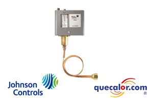 Control de alta presion Johnson Controls P70CA-4C, abre al subir la presion , rango de 20 pulg Hg a 100 psi , diferencial de 7 a 50 psi , Conexión NPT 1/4  , compatible con Amoniaco
