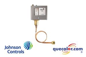 Control de alta presion Johnson Controls P70CA-3C, abre al subir la presion , rango de 50 a 500 psi , diferencial de 60 a 150 psi , capilar de 36 pulg largo con tuerca flare de 1/4, Restablecimiento automatico