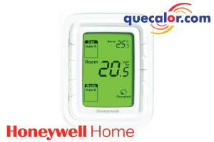 Termostato Honeywell Digital Halo Para Fan And Coil Agua Helada 110V, Colocacion Vertical, Pantalla Verde, Modelo: T6861V1WG