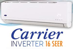 Minisplit Inverter CARRIER 3 TR, 18 SEER, Solo Frio 53CIC363A R410a, Voltaje 220 Volts