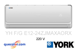 Minisplit York De 2 TR Frio Y Calefaccion High-Wall, R410a, 9.99 EER, Voltaje 220/1/60, Modelo YHGE24ZJMAXAORX