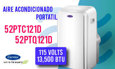 Aire Acondicionado Portatil Carrier Promo