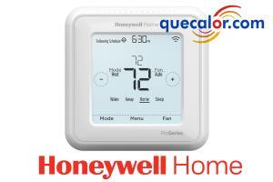 Termostato WiFi Honeywell T6 PRO Smart, Para Equipos Expansion Directa. Programable Con Etapas Hasta 2 Calor / 1 Frio Bomba De Calor O 2 Calor / 2 Frio, Modelo: TH6220WF2006. 24 Volts. Compatible Con Amazon Alexa Y Smart Home Apple HomeKit.